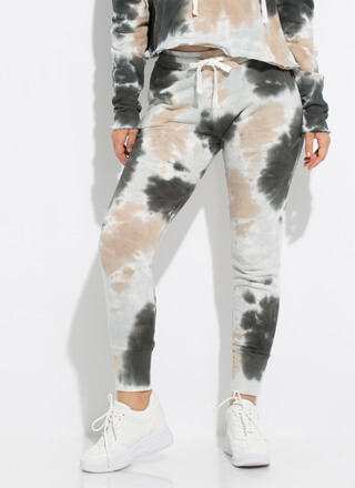 Top Splotch Tie-Dye Sweatpant Joggers