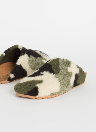 Feel Right At Home Furry Slipper Flats
