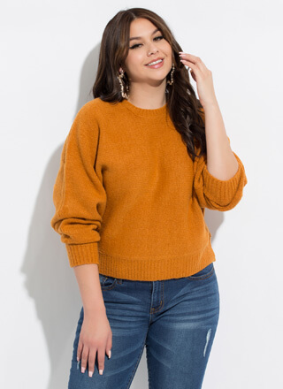 Cold Days Knit Dolman Sleeve Sweater