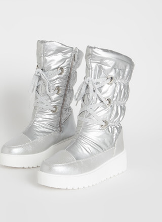 Spacewalk Lace-Up Nylon Platform Boots