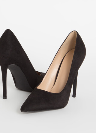 Frisky Business Pointy Faux Suede Pumps