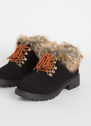 Take A Hike Furry Faux Nubuck Booties