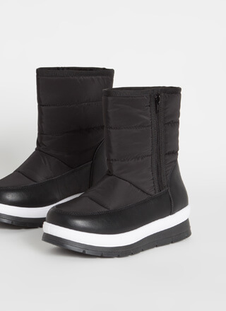 Winter Is Coming Nylon Platform Boots