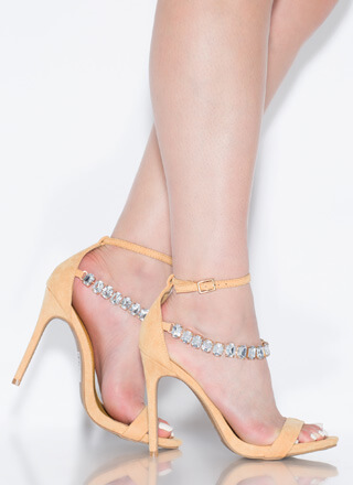 Luxe Be A Lady Jewel Strap Heels