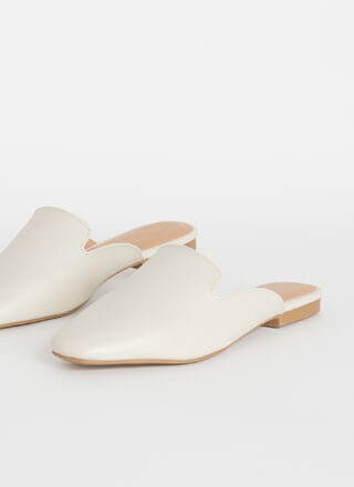 Walk Of Fame Faux Leather Mule Flats