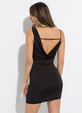 Drape It Like It's Hot Open-Back Dress