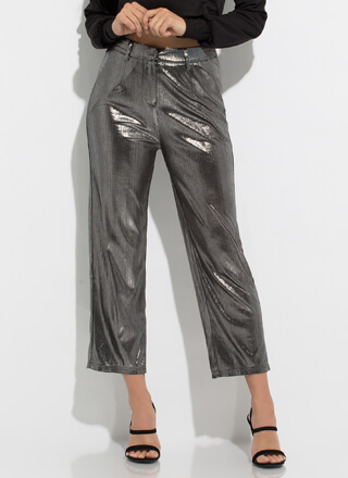 Tinsel Town Shiny Foiled Trousers
