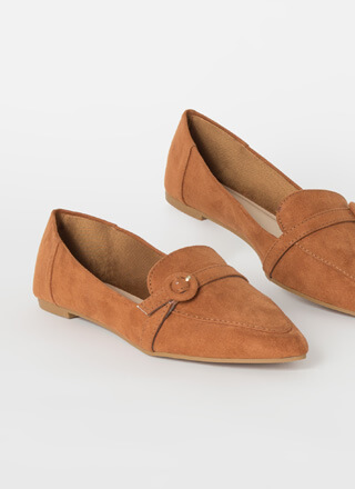 Business Class Buckled Loafer Flats