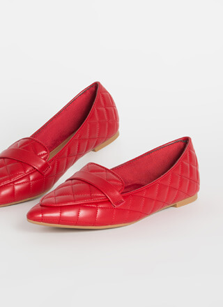 Chic-Easy Pointy Quilted Loafer Flats