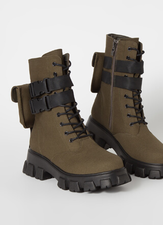 Hard Carry Pouch Strap Combat Boots