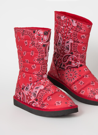 Bandana Babe Quilted Paisley Boots