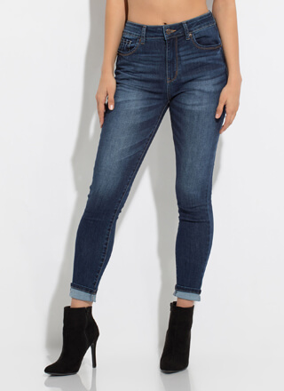 Peach Sustainable Butt-Lift Skinny Jeans
