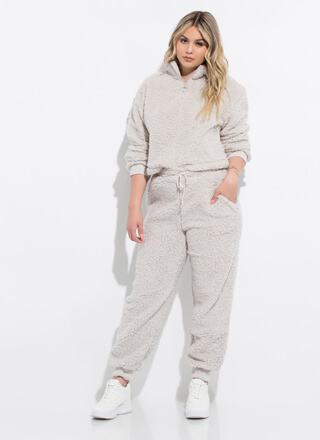 Soft Landing Fleecy 2-Piece Jogger Set