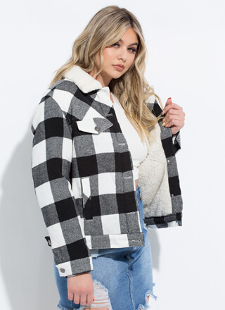 Lumberjane Collared Buffalo Plaid Jacket