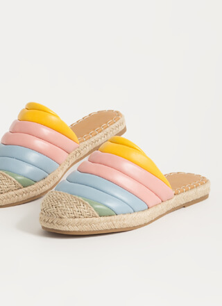 Colorful World Padded Braided Sandals