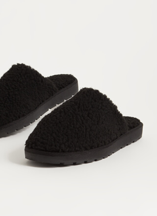 Homebody Faux Shearling Slipper Flats