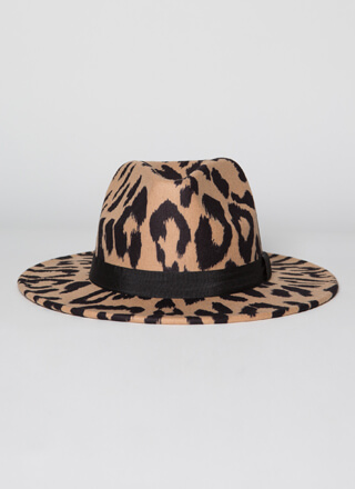 Wild And Free Felted Leopard Fedora