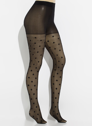 Spotted In Sheer Polka Dot Tights