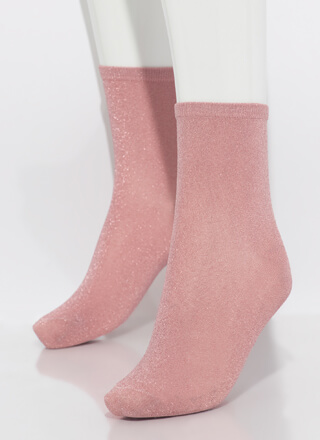 Twinkle Toes Sparkly Micro Crew Socks