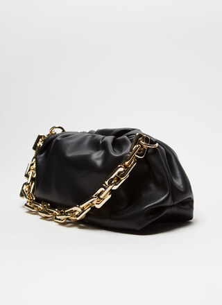 Chic And Slouchy Chain Strap Handbag