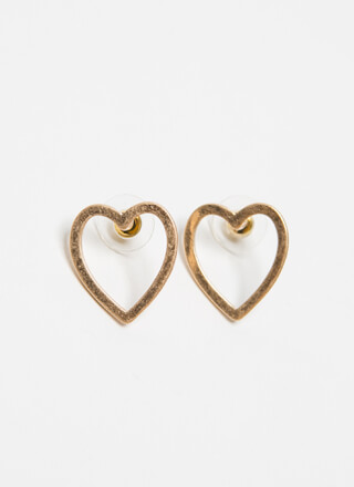 Vintage At Heart Matte Cut-Out Earrings
