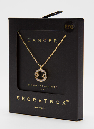 I'm A Cancer Jeweled Charm Necklace