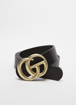 Buckle Upgrade Matte Faux Leather Belt