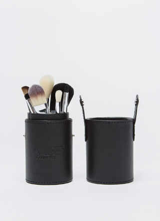 Let's Makeup 7-Brush Set With Caddy