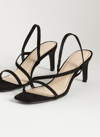 On-The-Go Girl Strappy Faux Suede Heels