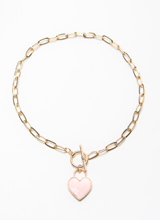 I Heart You So Much Toggle Charm Choker