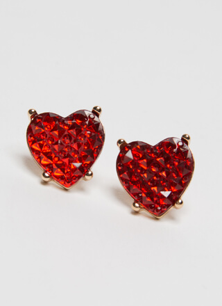 Valentine's Day Jeweled Heart Earrings
