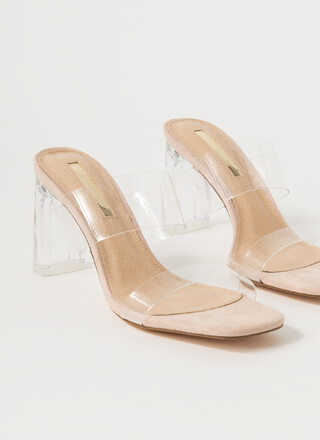 Becoming So Clear Chunky Lucite Heels