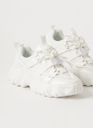 Off To The Laces Chunky Strappy Sneakers
