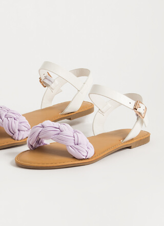 Goddess Level Braided Strap Sandals