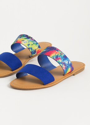Ocean Liner Colorful Strap Slide Sandals