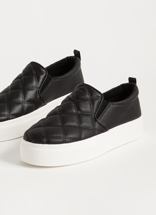 In The Bag Quilted Platform Sneakers