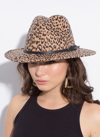 City Safari Felted Leopard Fedora