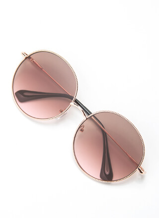 Make The Rounds Trimmed Sunglasses