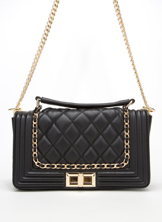 Every Luxury Quilted Chain Trim Handbag