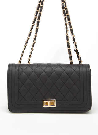 New Bag Quilted Chain Strap Purse