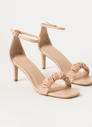 It's Scrunch Time Ankle Strap Heels
