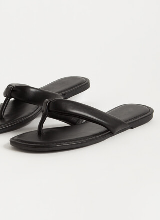 Flip For It Vegan Leather Thong Sandals