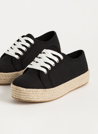 Vacay Braided Canvas Platform Sneakers