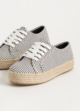 Vacay Braided Striped Platform Sneakers