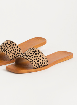 Keep It Simple Cheetah Slide Sandals