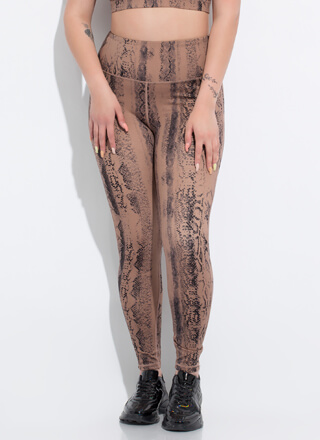 Snake Things Up High-Waisted Leggings