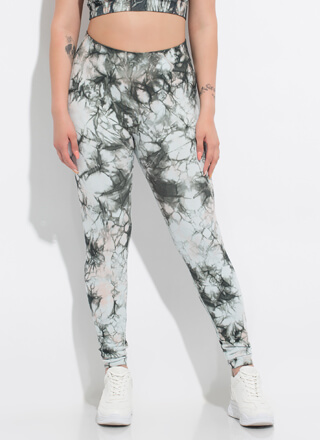 Tie-Dye Routine High-Waisted Leggings