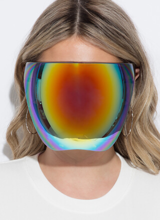 Future Reflective Face Shield Sunglasses