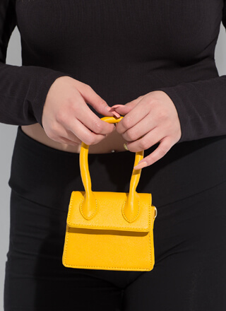 It's Handled Faux Leather Micro Purse
