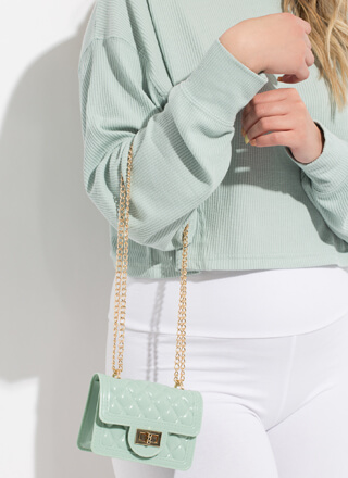 So Jelly Quilted Chain Strap Micro Purse